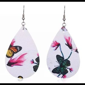 Vegan leather Butterfly/Floral Water Drop